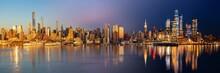 New York City Skyline Day Night