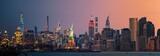 Fototapeta Nowy Jork - New York City downtown skyline day and night