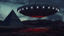 3d Render. Unidentified Flying...