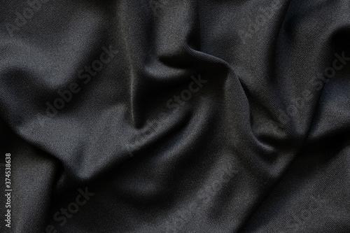Fotografie, Obraz Black fabric luxury cloth texture pattern background