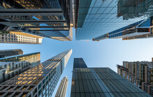 Modern Skyscraper Buildings In Midtown Manhattan, New York City, USA