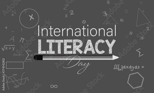 Leinwand Poster Vector Illustration of International literacy day. 8 September.