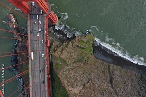 Tela Golden Gate Bridge Ariel View