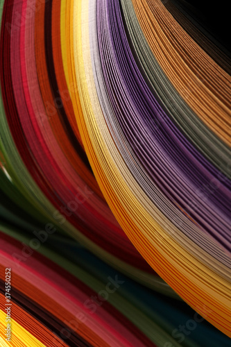 Abstract rainbow color strip wave paper vertical background. Wallpaper Mural