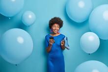 Beautiful Lady In Blue Dress, ...