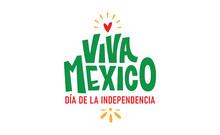 Viva Mexico, Colorful Letterin...