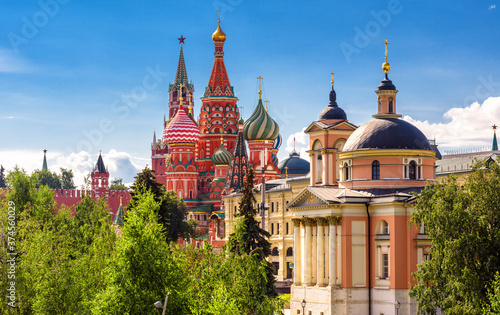 Foto Moscow cityscape in summer, Russia