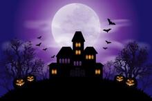 Halloween Background With Haun...