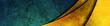 Dark green grunge texture background with luxury golden glossy waves. Vector banner