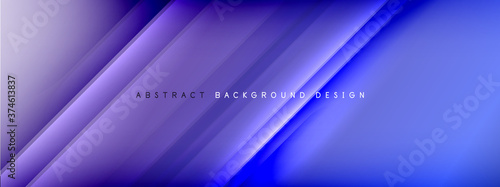 Leinwand Poster Motion concept neon shiny lines on liquid color gradients abstract backgrounds