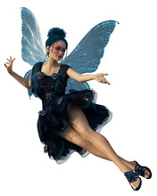Beautiful Fairy Isolated On Wh...