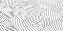 White Background With Abstract Three-dimensional Stripes Created By 3d Rendering