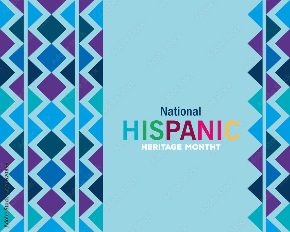 blue pattern background design, national hispanic heritage month and culture theme Vector illustration
