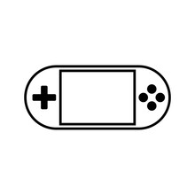 Portable Video Game Console Vector Icon,flat Design