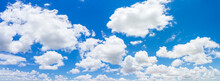 Panorama Blue Sky And Clouds W...