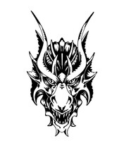 Chinese Dragon Head. Hand Draw...