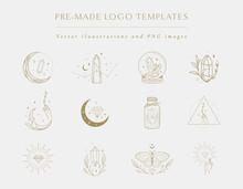 Gemstones Collection Of Hand Drawn Logo Designs