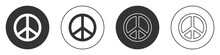 Black Peace Icon Isolated On W...