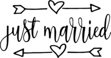 Just Married Logo Sign Inspira...