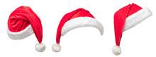 Set Of Christmas Santa Hat Iso...