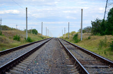 Two Railway Tracks Go Into The...