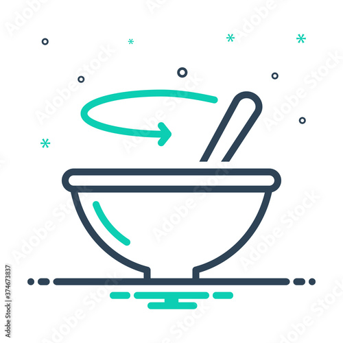 Mix icon for stir Wallpaper Mural