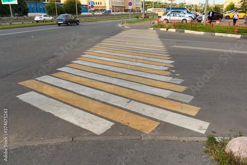 Photo zebra crossing