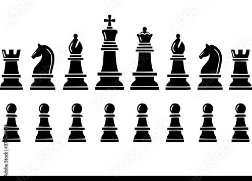 Photo chess icons vector Chess, Icons, Knight, Horse, Castle, King, Strategy, Bishop,