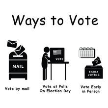 Three Ways To Vote, Pictogram ...