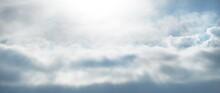 Clear Blue Sky, Glowing Cumulu...