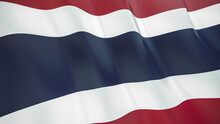 The Flag Of Thailand. Waving S...