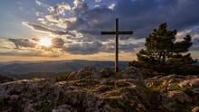 Summit Cross At Sunset Mount P...