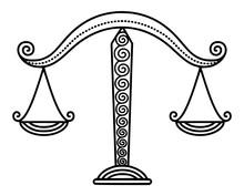 Zodiac Libra Sign Balance Scal...