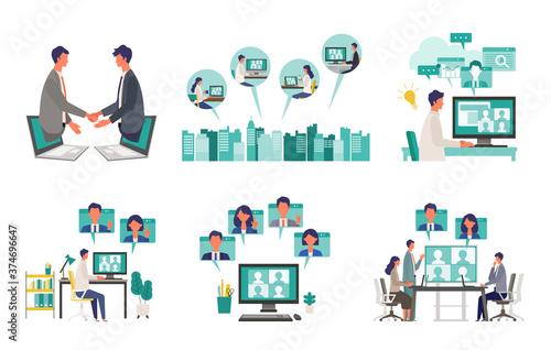 Slika na platnu Telecommuting concept