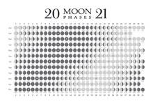 2021 Moon Phases Calendar On W...