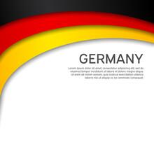 Abstract Waving Germany Flag. ...