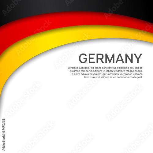 Fotografija Abstract waving germany flag