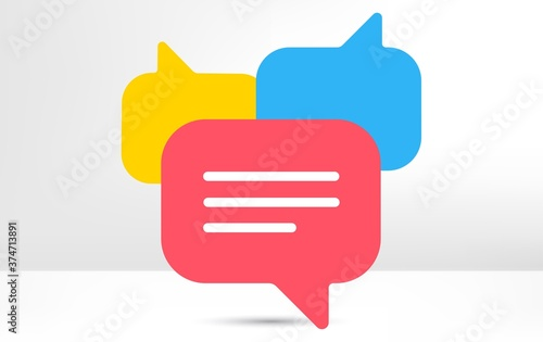 Obraz na plátně Chat bubble icon