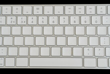 Blank White Alphabet Keys On A...