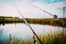 Fisherman`s Fishing Rod With I...