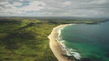 White Beach Sand Coast Aerial ...