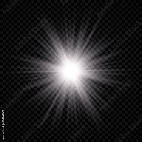 Light effect of lens flare Tableau sur Toile