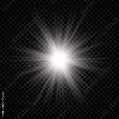 Fototapeta Light effect of lens flare