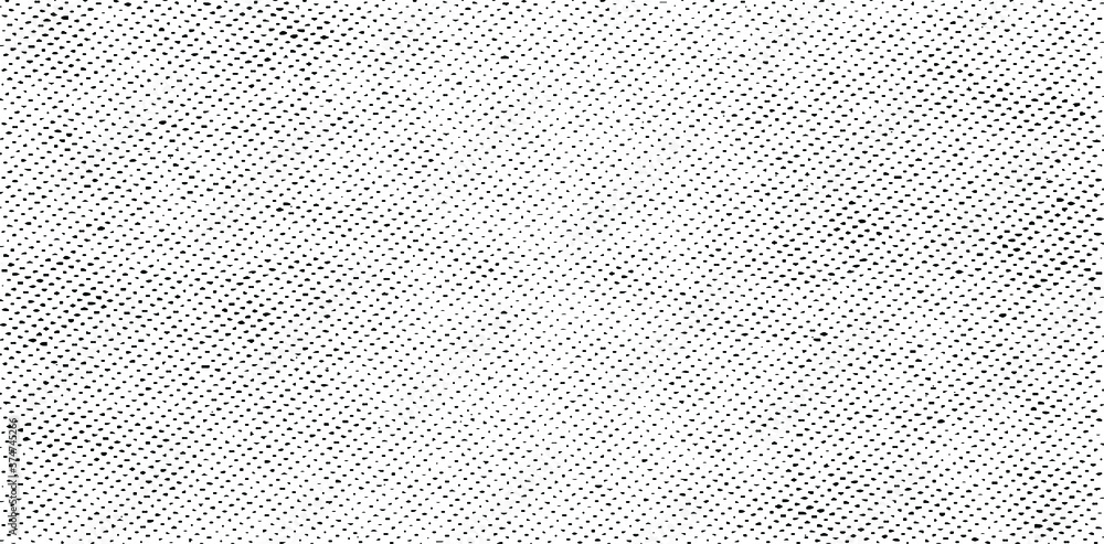 Fototapeta Vector fabric texture. Distressed texture of weaving fabric. Grunge background. Abstract halftone vector illustration. Overlay to create interesting effect and depth. Black isolated on white. EPS10.