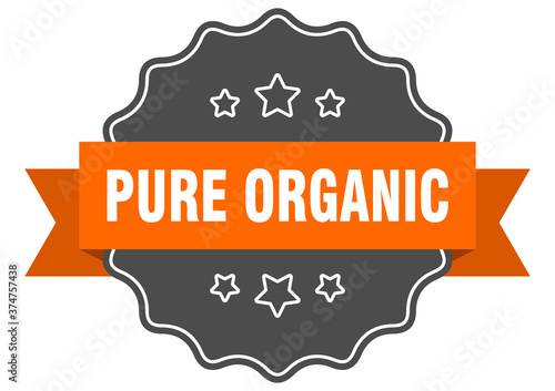 Obraz na plátně pure organic label. pure organic isolated seal. sticker. sign