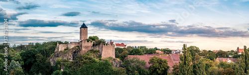 Fototapeta Burg Giebichenstein in Halle Saale im Zentrum von Deutschland - Panorama obraz