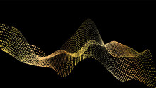 Sound Wave From Node. Gold Int...