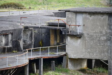 Abandoned Military Fort On The West Coast.