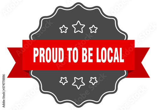 proud to be local label Fototapet