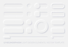 Neumorphic Vector UI Design El...